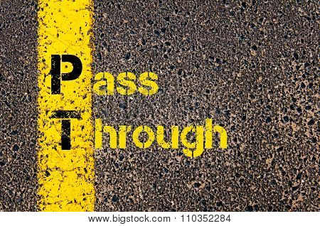Accounting Business Acronym Pt Pass Through