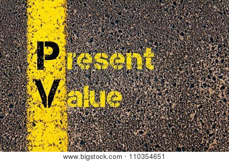Accounting Business Acronym Pv Present Value