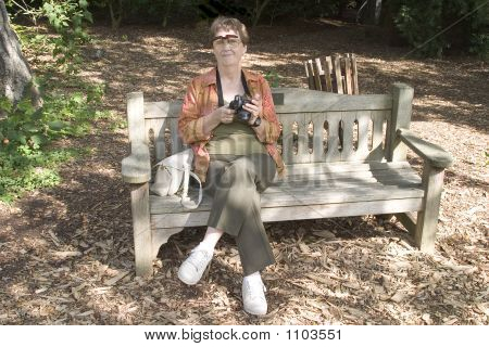 Mature Woman Sitting