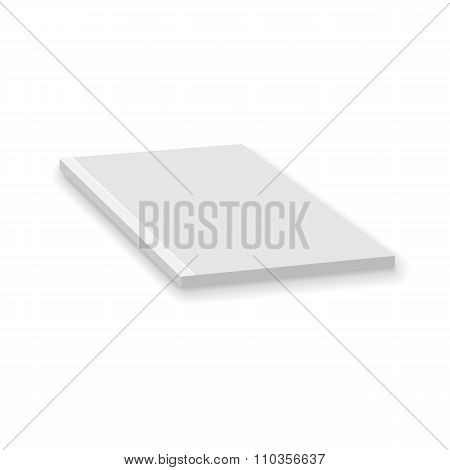 Blank Empty Magazine Or Paperback Book Template. Mock Up For You