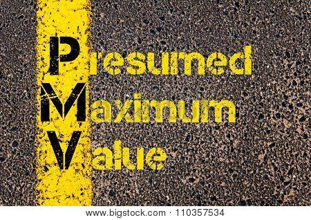 Accounting Business Acronym Pmv Presumed Maximum Value