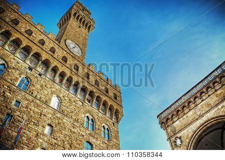Palazzo Vecchio And Loggia De Lanzi