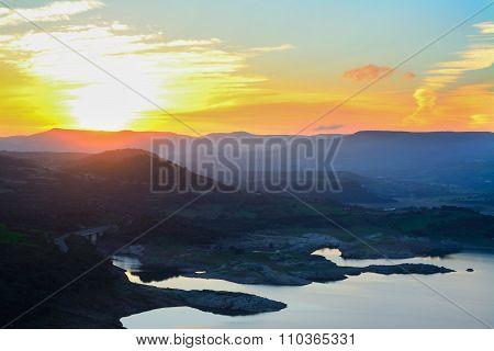Monteleone Lake On A Warm Autumn Day