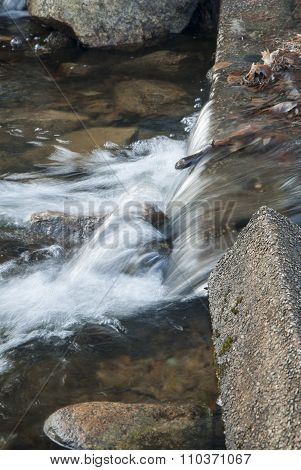 Water Over Small Spillway