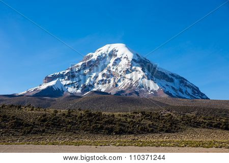 Sajama Volcano In The Natural Park Of Sajama