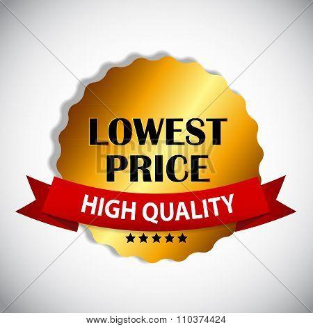 Lowest Price Label Vector Illustration