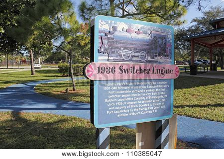 1936 Switcher Engine Sign
