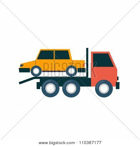 Tow truck driven cars.