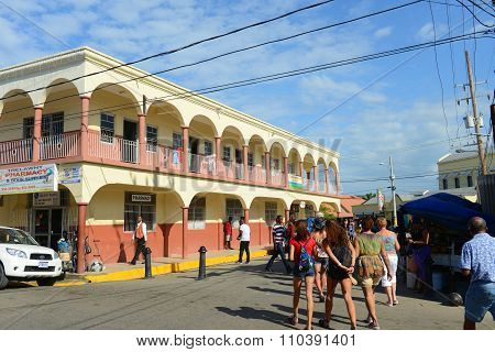 Falmouth downtown, Jamaica