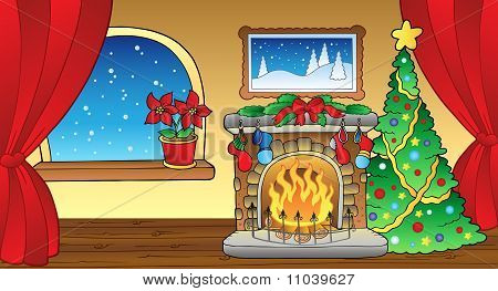Christmas Card With Fireplace 2