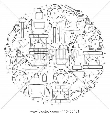 Vector blacksmith background