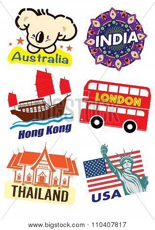 Travel label set