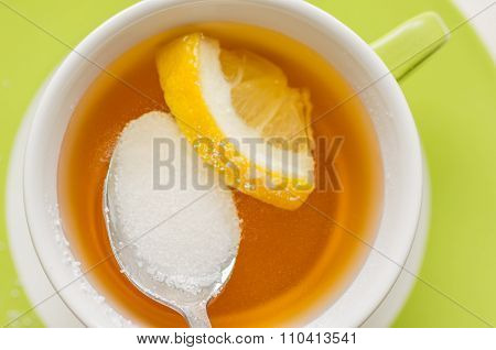 Spoon With A Sugar Substitute, Sorbitol In Tea