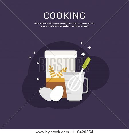 Cooking Concept. Vector Illustration In Flat Design Style For Web Banners Or Promotional Materials.