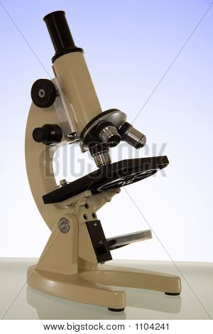 Microscope - Against Blue Graduated Background - With Clipping M