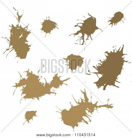 Ink Splash Blotch, Grunge Background