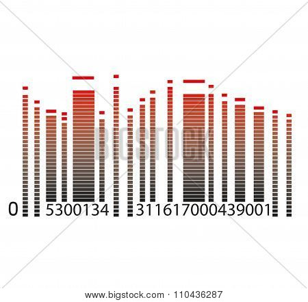barcodes with equalizer vector illustration, Color Barcode-8