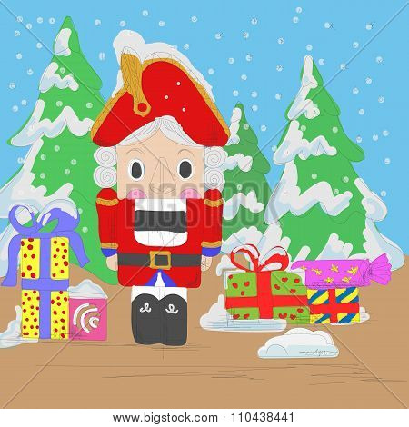 Nutcracker with gifts