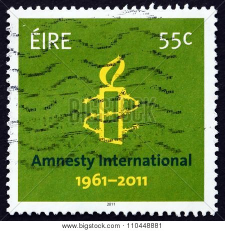 Postage Stamp Ireland 2011 Amnesty International