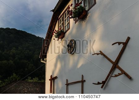 house wall decorated