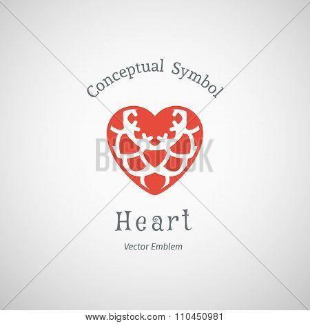 Vector Ornamental Heart Logo