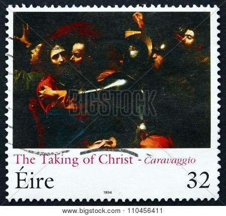 Postage Stamp Ireland 1994 The Taking Of Christ