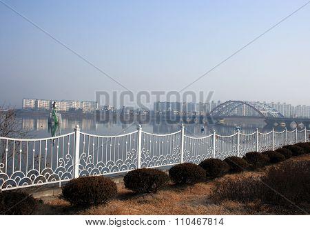 Embankment. Chuncheon. South Korea.