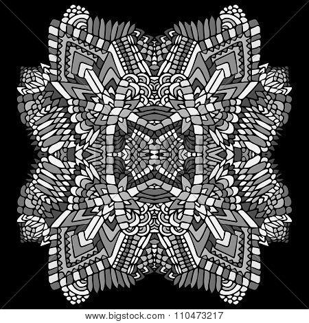 Zentangle Round Object Grey 2