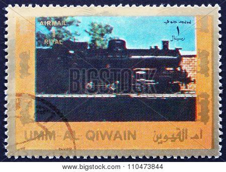 Postage Stamp Umm Al-quwain 1972 Steam Locomotive