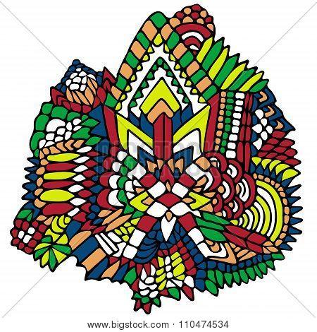 Zentangle Elements Figure Simple Colorful 1