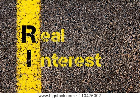 Accounting Business Acronym Ri Real Interest