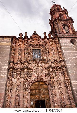 Templo De San Francisco Facade Church San Miguel De Allende Mexico