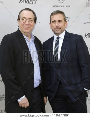 LOS ANGELES - JAN 4:  Steve Gaydos, Steve Carell at the Variety's Creative Impact Awards and '10 Directors To Watch' Brunch at the Park Palm Springs on January 4, 2015in Palm Springs, CA