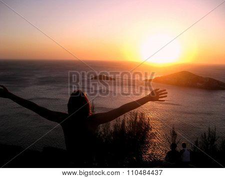 sunset beach freedom