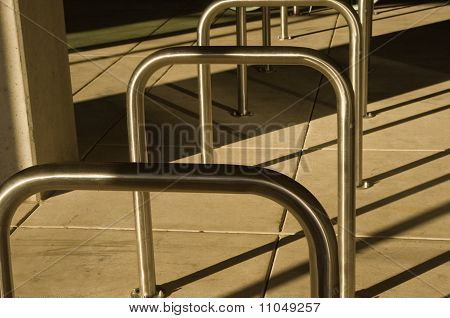 Bicycle Racks In A Row