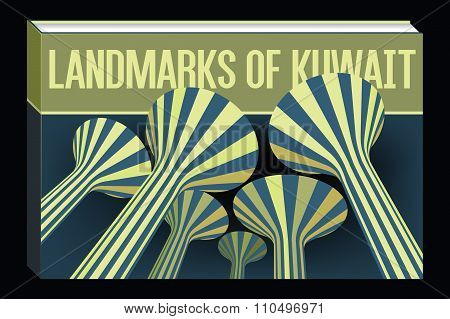 Landmarks Of Kuwait Fictive Book Concept