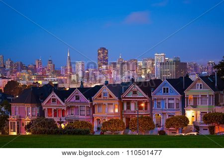 San Francisco night view from Painted Ladies
