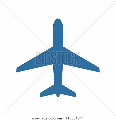 Airplane icon, modern minimal flat design style, plane vector illustration