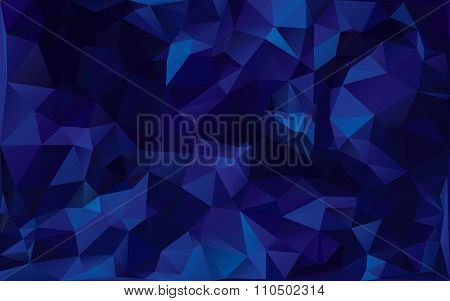 Abstract Poligonal Background In Dark Blue Tones