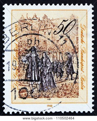 Postage Stamp Germany 1988 The Great Elector Of Brandenburg, 1688