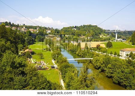 Fribourg, Landscape Of Green Areas Of The City