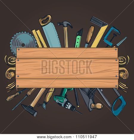 Carpentry woodworks background
