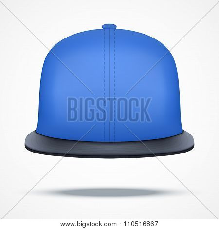 Layout of blue rap cap.