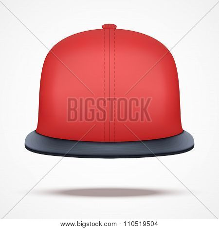 Layout of red rap cap.