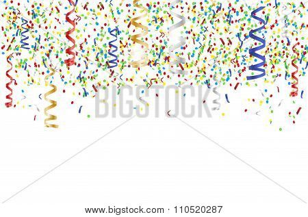 Flying Multicolored Confetti - Party Background