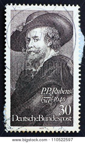 Postage Stamp Germany 1977 Peter Paul Rubens
