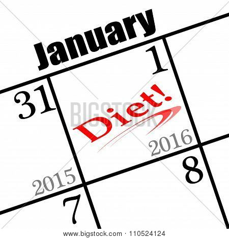2016 new year's day icon to diet