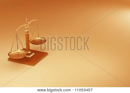 Scale. Symbol Of Justice