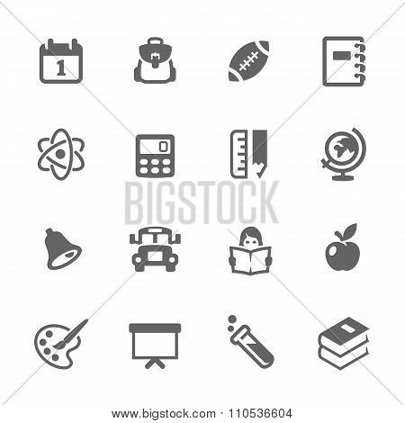 Simple Back to School Icons