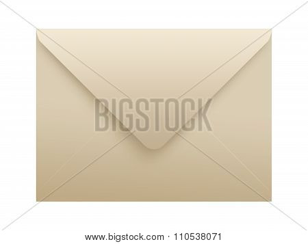 Paper Envelope Isolated.